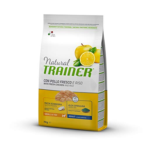 Natural Trainer Adult Small & Toy pienso para perros con ternera
